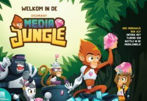 De Mediajungle is een bordspel in combinatie met een (web)app waarmee de spelers aan de hand van filmpjes, doe- en discussieopdrachten in gesprek gaan.